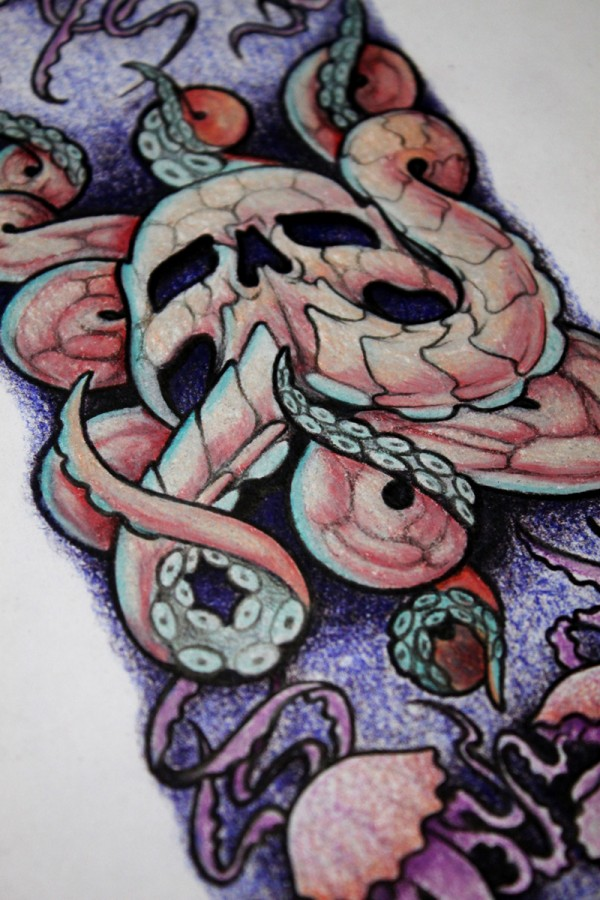 tattoo-drawing-skull-kraken-artwork-abstract-biomech-renegolker-voltfoltertattoostudio